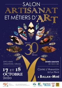 Affiche 30eme salon de l artisanat et des metiers d art 2020